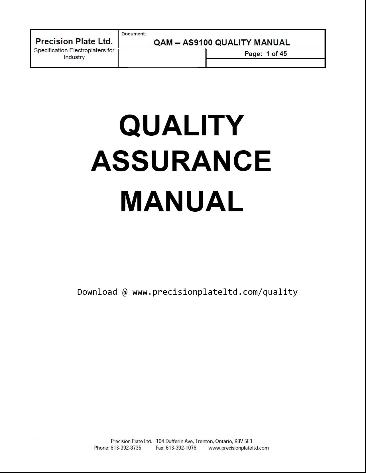 Free quality manual template download choice image for Supplier quality manual template