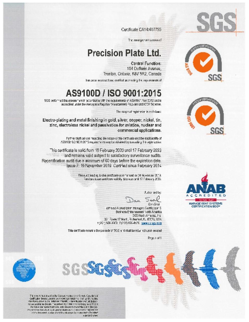 Precision Plate Ltd